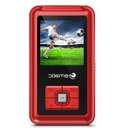 1.5-Inch 8GB MP3 Video Player with FM Tuner, Red