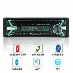 1 Din Car MP5 Stereo Player Bluetooth HD FM TF USB AUX 12V A