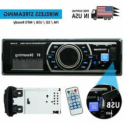 SoundXtreme Car Stereo, Bluetooth, No CD/DVD Player, USB, SD