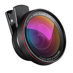 AMIR Phone Camera Lens, 0.6X Super Wide Angle Lens + 15X Mac