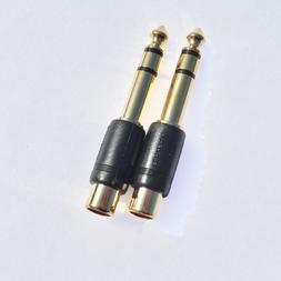 RadioShack 1/4 Inch Stereo Male-to-RCA Female Adapter