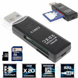 2 in 1 USB 3.0 Micro SD SDXC TF T-Flash Memory Card High Spe