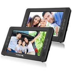 "10.1"" Dual Portable DVD Player for Car Headrest 1024*600 USB"