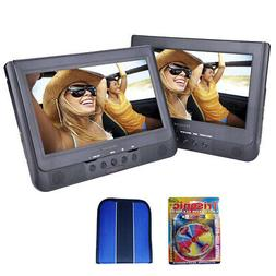 "Sylvania 10.1"" Dual Screen Portable DVD Player - Essentials"