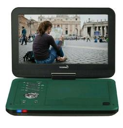 Impecca 10.1 Inch Portable DVD Player Teal Swivel Up to 6 Hr