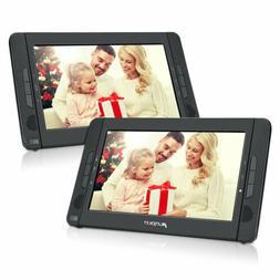 "10.1"" Portable Car DVD CD Player Dual Screen for Kids USB SD"