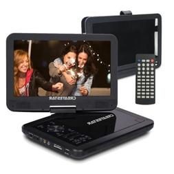 "10.5"" Portable DVD Player Swivel Screen CD TV VCD Video USB/"