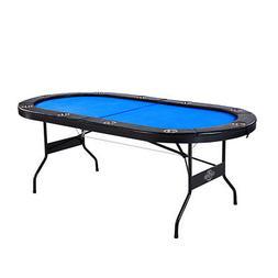 Lancaster 10 Player High Quality Blue Felt Casino Style Fold
