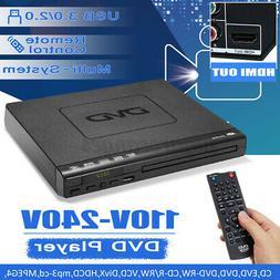 1080P HD LCD DVD Player Compact Multi Region Video MP4 MP3 C