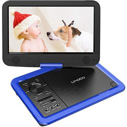 "COOAU 12.5"" Portable DVD Player with 5 Hrs Rechargeable Batt"