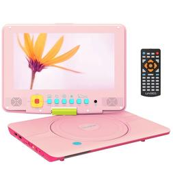 """COOAU 12"""" Kids Portable DVD Player with 9"""" Swivel Screen,5H"""