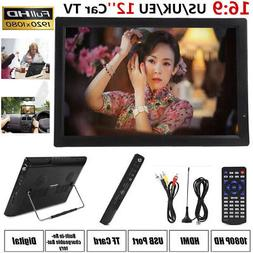 "12"" Portable LED Digital TV Player 1080P Full HDTV Televisio"