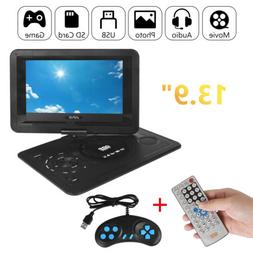 "13.9"" Portable DVD Player HD CD FM TV Player 16:9 LCD Widesc"