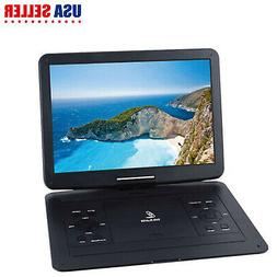 15'' Portable CD/DVD Player HD Widescreen Display Built-