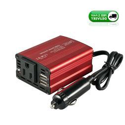 150W Power Inverter DC 12V to 110V AC Converter with 3.1A Du