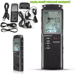 16G/8G Voice Recorder LCD HD Digital Audio Sound Dictaphone