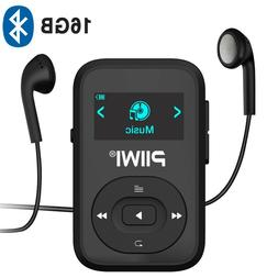 16GB Bluetooth MP3 Player with Clip and FM Radio PIIWI SPORT