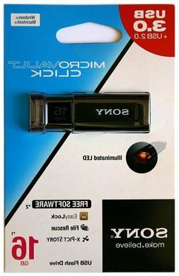 Sony 16GB MicroVault U-Series USB 3.1 Type A Flash Drive Bla