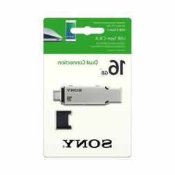 Sony 16GB USB 3.1 Gen 1 USB Type-C and Type -A USB Drive USM