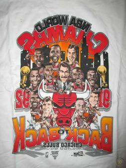 1992 PRO PLAYER CHICAGO BULLS CHAMPIONS T-SHIRT MICHAEL JORD