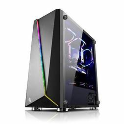1st Player Rainbow R7 Gaming Case Tempered Glass Side and 3x