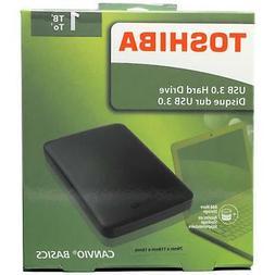Toshiba 1TB Canvio Basics USB 3.0 External Hard Drive Black