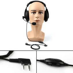 1x Heavy Duty Overhead Headset Boom Mic PTT Fit Kenwood Puxi