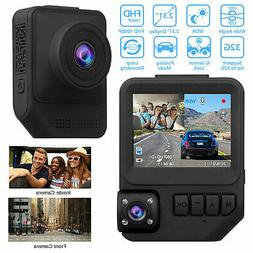 "2.3"" 1080P Dual Lens Car Dashboard DVR Camera Video Recorder"