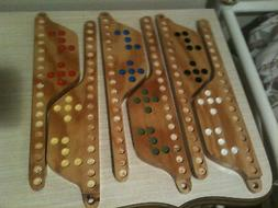 2 - 6-Player MARBLES and JOKERS Game ***NEW HANDMADE Cedar