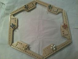 2 - 6-Player PEG and JOKERS Game ***NEW HANDMADE  Ply Wood 1