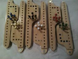 2 - 6-Player PEG and JOKERS Game ***NEW HANDMADE Ply Wood 10