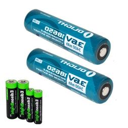 2 Pack Olight 3400mAh Protected 18650 Rechargeable Li-ion Ba