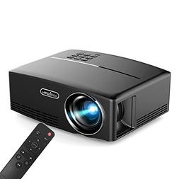 "ERISAN Portable LED Projector, 1800 Lumens 180"" for Outdoor"
