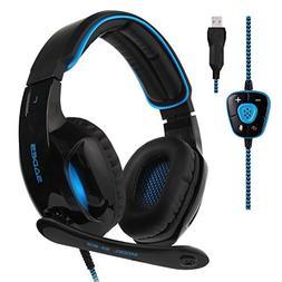 2017 Sades New Version SA902 Blue 7.1 Channel Virtual USB Su