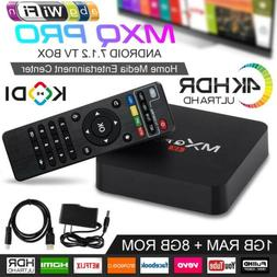 2019 MXQ Pro Android Smart TV Box 8G Quad Core 4K HD 2.4GHz