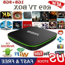 2019 R69 Android 7.1 Smart TV Box 1+8G Quad Core HD 2.4GHz W