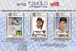 2019 TOPPS CLEARLY AUTHENTIC BASEBALL HOBBY LIVE RANDOM PLAY