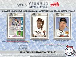 2019 Topps Clearly Authentic -LIVE BOX BREAK- Pick 1 Player