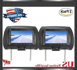 "2PCS HDMI 7"" LCD Car Pillow Headrest Monitor Portable  No DV"