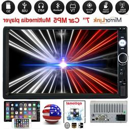 2Din 7' HD Touch Screen Android IOS Car Stereo Radio MP5 Pla