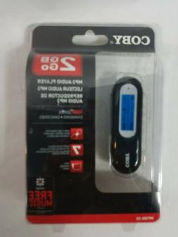 Coby 2GB/GO Mp3 Audio Player W/Accessories MP300-2G New Seal