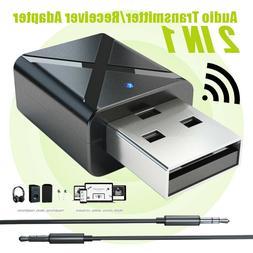 2in1 USB Wireless bluetooth V5.0 Stereo Audio Music Transmit