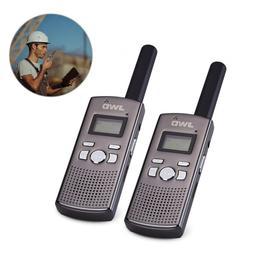 2x Handheld Walkie Talkies Two Way Radio MP3 Player High Def
