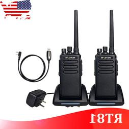 2XRetevis RT81 DMR 32CH 10W UHF Encrypt