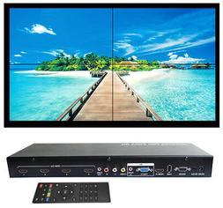2x2 Video Wall Controller Splicer Splitter AV Processor New
