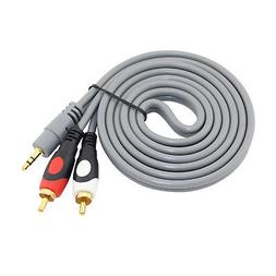 3.5mm To 2 RCA Audio Cable For AmazonBasics BTR1 Bluetooth 4