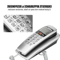 3 Colors Wall Mount Desk Top Corded Home Phone Landline Tele