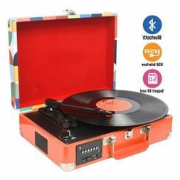 3 speed bluetooth usb suitcase vinyl record