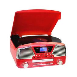 TechPlay 3 Speed Turntable, Programmable MP3 CD Player, USB/