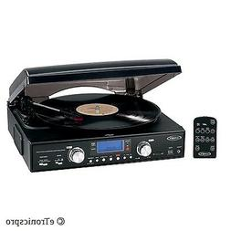 3-SPEED TURNTABLE RECORD PLAYER CONVERT LP to MP3 / CD w/ US
